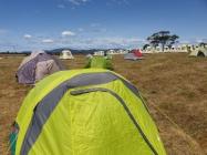 Camping in Marion Bay, Tasmania